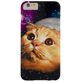 Funda Barely There iPhone 6 Plus luna del gato, gato y luna, catmoon, gato de la