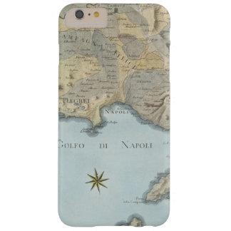 Funda Barely There iPhone 6 Plus Mapa del golfo de Nápoles y de los alrededores
