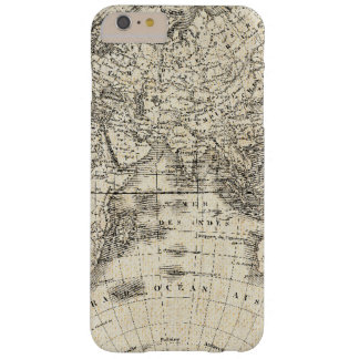 Funda Barely There iPhone 6 Plus Mapa del vintage de Europa y de Asia