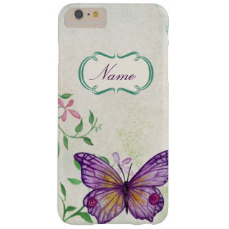 Funda Barely There iPhone 6 Plus Mariposa del vintage floral