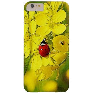 Funda Barely There iPhone 6 Plus Mariquita amarilla del rojo de la buena suerte de