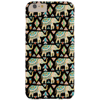 Funda Barely There iPhone 6 Plus Modelo colorido lindo de los elefantes indios