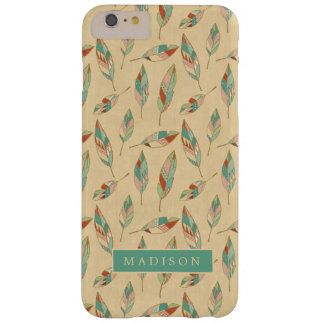 Funda Barely There iPhone 6 Plus Modelo coralino de la pluma del paso el | de Geo