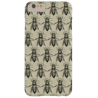 Funda Barely There iPhone 6 Plus Modelo de la abeja del Victorian del vintage
