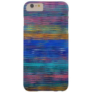 Funda Barely There iPhone 6 Plus Modelo de mosaico decorativo de las rayas #2