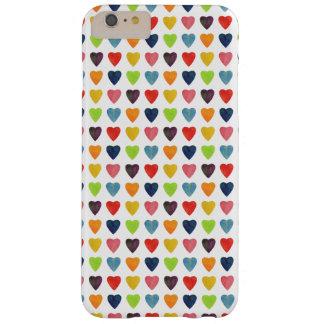 Funda Barely There iPhone 6 Plus Modelo del corazón de la acuarela