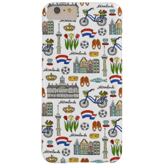 Funda Barely There iPhone 6 Plus Modelo del Doodle de Netherland