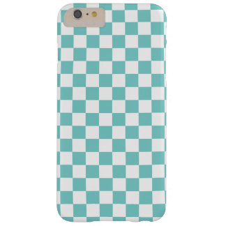 Funda Barely There iPhone 6 Plus Modelo del tablero de damas de la aguamarina
