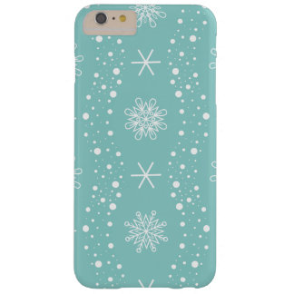 Funda Barely There iPhone 6 Plus Modelo divertido de los copos de nieve de la