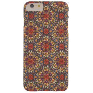 Funda Barely There iPhone 6 Plus Modelo floral étnico abstracto colorido de la