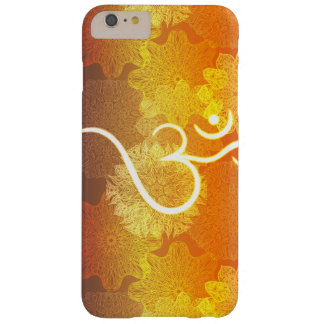 Funda Barely There iPhone 6 Plus Modelo indio del ornamento con símbolo del ohmio