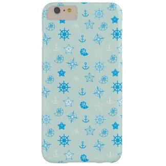 Funda Barely There iPhone 6 Plus Modelo náutico azul claro