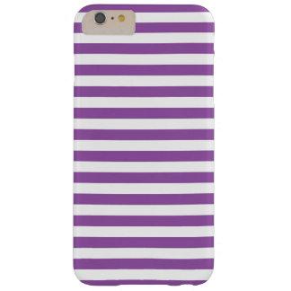 Funda Barely There iPhone 6 Plus Modelo púrpura y blanco de la raya