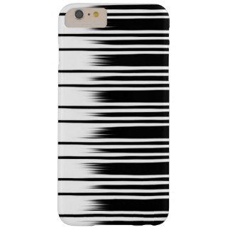 Funda Barely There iPhone 6 Plus Modelo rayado blanco y negro fresco