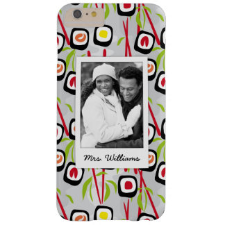 Funda Barely There iPhone 6 Plus Monograma del modelo el | del diseño del sushi