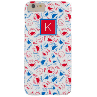 Funda Barely There iPhone 6 Plus Monograma rojo y azul del modelo el |