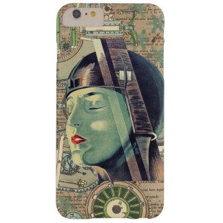 Funda Barely There iPhone 6 Plus Mujer de Steampunk de la metrópoli
