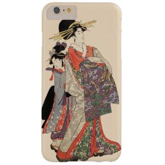 Funda Barely There iPhone 6 Plus Mujer en el kimono colorido (impresión del japonés