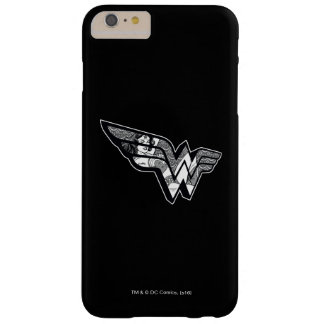 Funda Barely There iPhone 6 Plus Mujer Maravilla que se sienta en logotipo anguloso