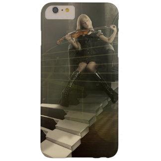 Funda Barely There iPhone 6 Plus Mujer musical del arte que toca el violín en