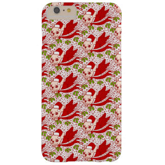 Funda Barely There iPhone 6 Plus Navidad con un Frenchie