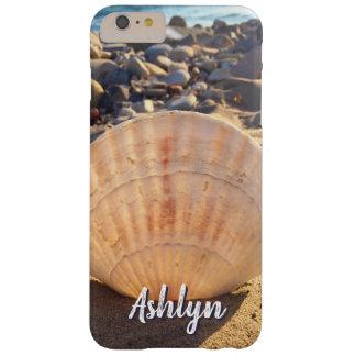 Funda Barely There iPhone 6 Plus Nombre del personalizado de la foto del seashell