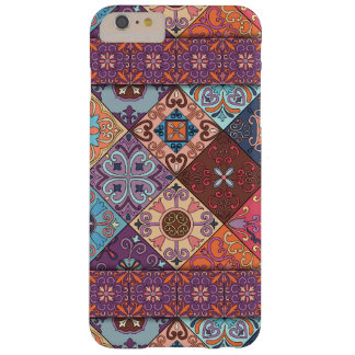 Funda Barely There iPhone 6 Plus Ornamento de Talavera del mosaico del vintage