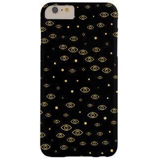 Funda Barely There iPhone 6 Plus Oro de Neolution - negro huérfano