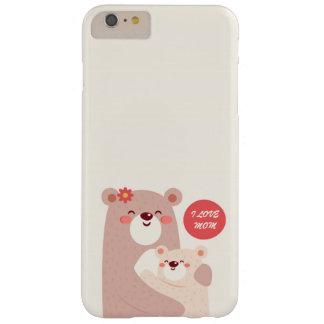 Funda Barely There iPhone 6 Plus Osos de la mamá y del niño - mamá del amor de I