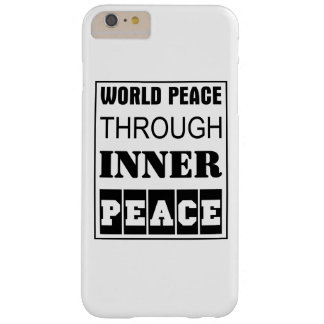 Funda Barely There iPhone 6 Plus paz de mundo con paz interna