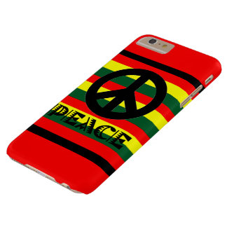 Funda Barely There iPhone 6 Plus Paz Smartphone de Paxspiration Rasta/caja de la