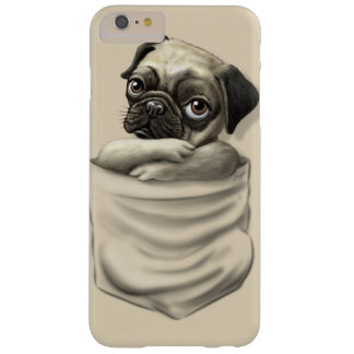 Funda Barely There iPhone 6 Plus Perrito del barro amasado del bolsillo de Chillin