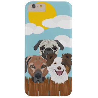 Funda Barely There iPhone 6 Plus Perros afortunados del ilustracion en una cerca de