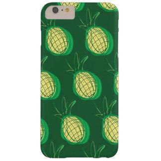 Funda Barely There iPhone 6 Plus Piñas enrrolladas en fondo verde