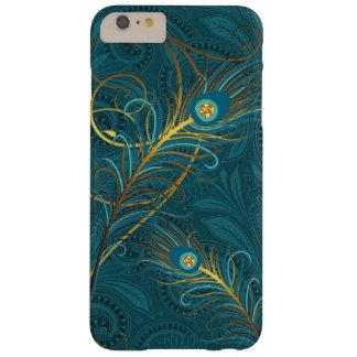 Funda Barely There iPhone 6 Plus Plumas del pavo real del trullo con Paisley
