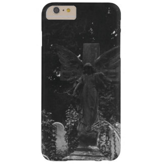 Funda Barely There iPhone 6 Plus Postal del cementerio del Victorian de la estatua