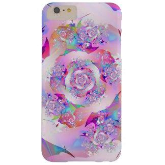 Funda Barely There iPhone 6 Plus Primer arte fino subió del fractal