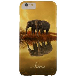 Funda Barely There iPhone 6 Plus Puesta del sol de los elefantes