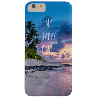 Funda Barely There iPhone 6 Plus Puesta del sol tropical de las palmeras de la