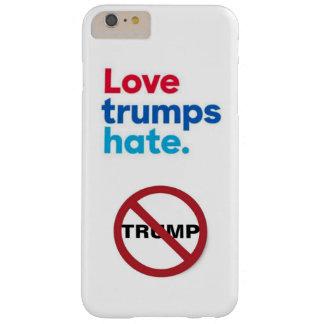 Funda Barely There iPhone 6 Plus raya vertical del círculo del odio de los triunfos