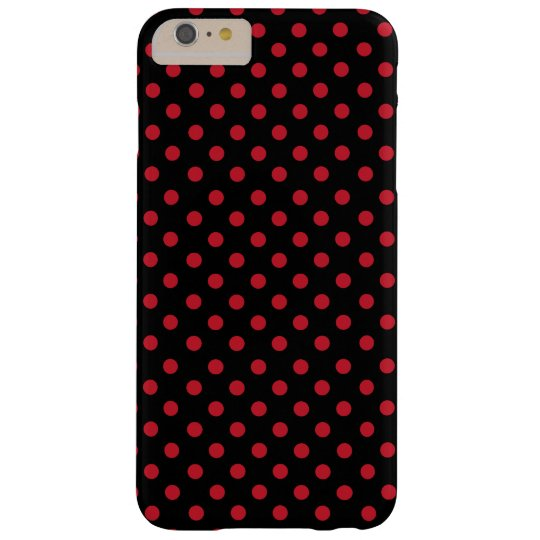 Funda Barely There iPhone 6 Plus Red polka dots in black