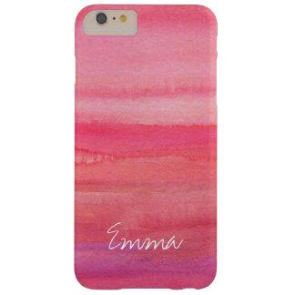 Funda Barely There iPhone 6 Plus Rosa moderno personalizado del chica subió