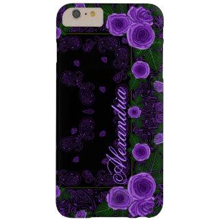 Funda Barely There iPhone 6 Plus Rosas de la frambuesa y plantilla conocida del
