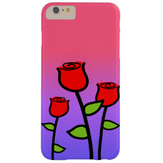 Funda Barely There iPhone 6 Plus Rosas rojos