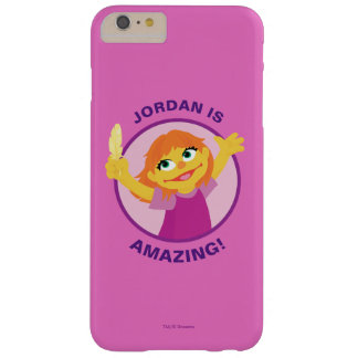 Funda Barely There iPhone 6 Plus Sesame Street el | Julia que sostiene la pluma