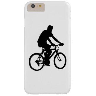Funda Barely There iPhone 6 Plus Silueta del Bicyclist