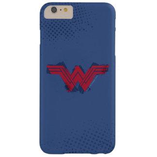 Funda Barely There iPhone 6 Plus Símbolo cepillado el   de la Mujer Maravilla de la