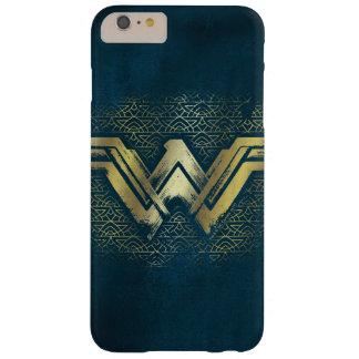 Funda Barely There iPhone 6 Plus Símbolo cepillado Mujer Maravilla del oro