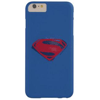 Funda Barely There iPhone 6 Plus Símbolo del superhombre del cepillo y del tono