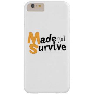 Funda Barely There iPhone 6 Plus Sobreviva la esclerosis múltiple Awarness